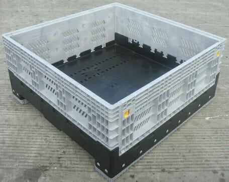 Low folding vented Australian Standard plastic box